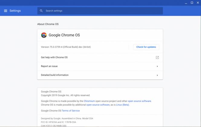 Chrome OS 75 tilbyr full USB-støtte for Linux-applikasjoner 1