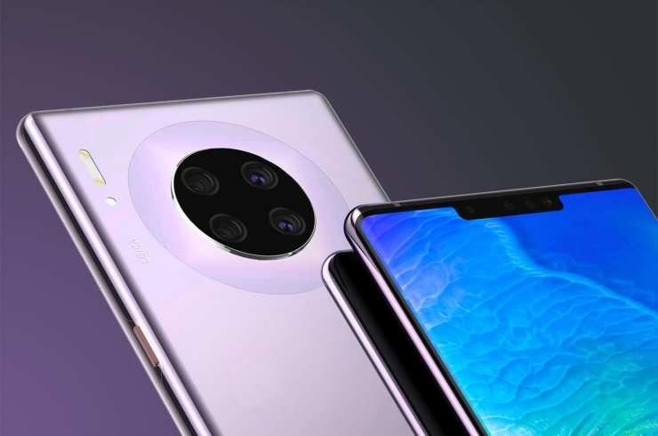 Das gefilterte Bild auf der Vorderseite des Huawei Mate 30 zeigt, dass es eine große Kerbe haben wird 1