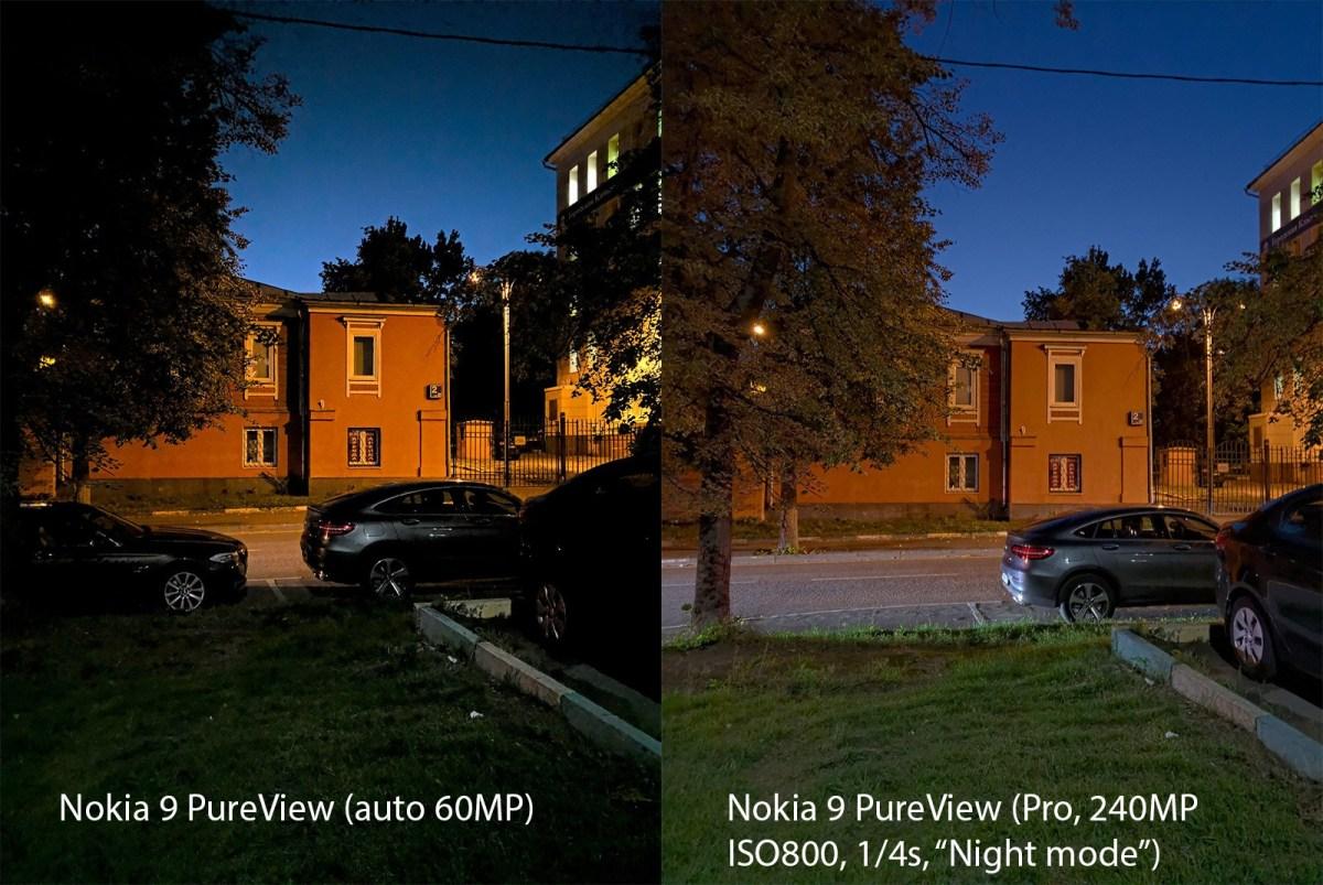 Detaljer om nattmodus i Nokia 9 PureView og gjeldende bruk 1