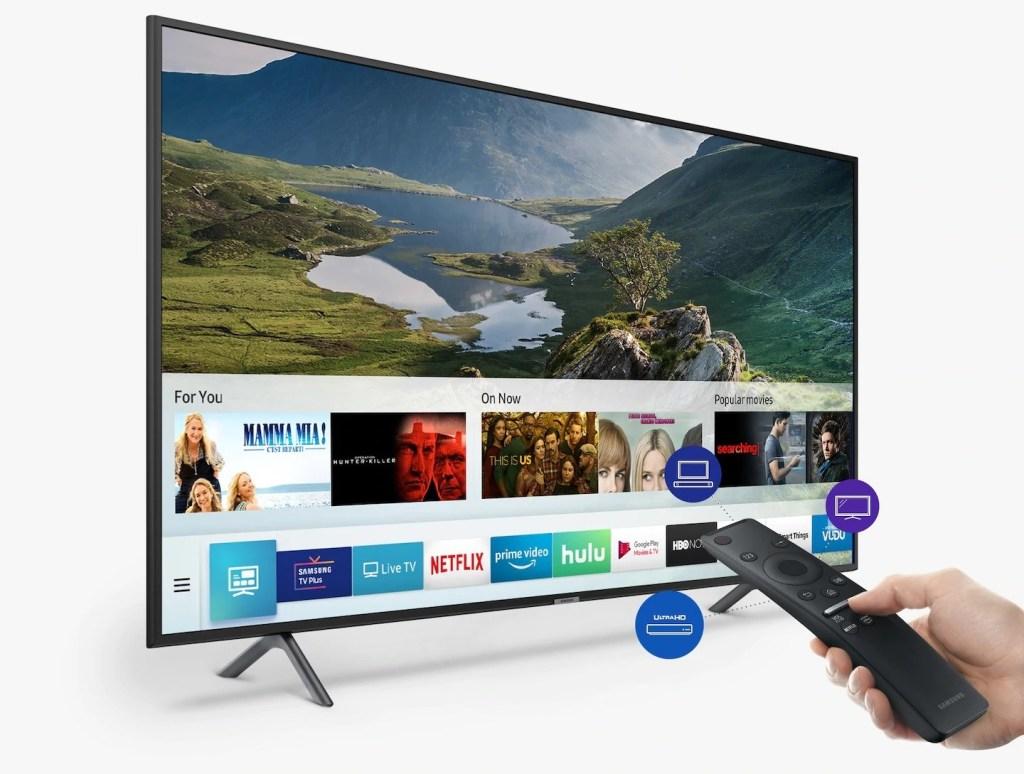 Mit der einzigartigen Fernbedienung können Sie andere Geräte steuern, die an den Fernseher angeschlossen sind
