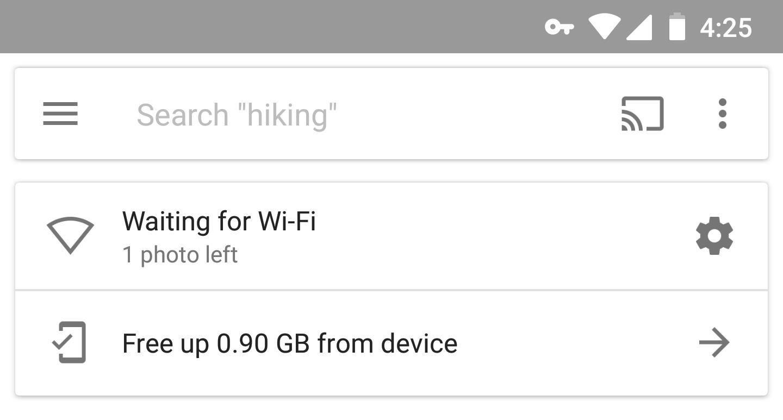 Google Fotos Warten Sie auf WLAN? Hier ist das Update