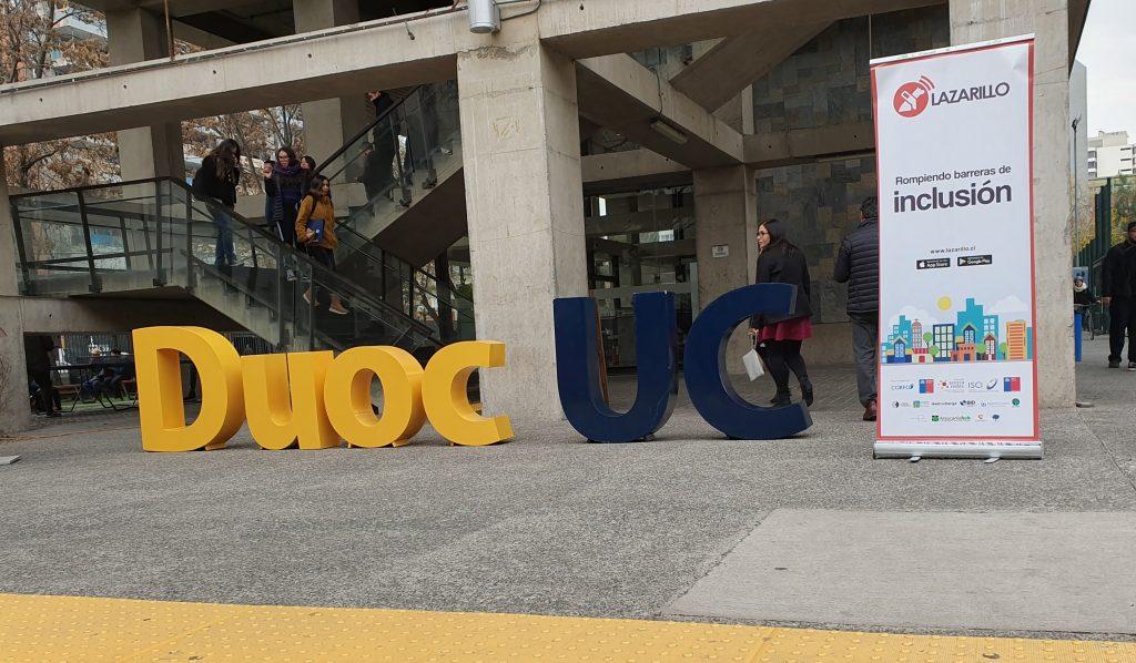 Lazarillo wird das Duoc UC-Hauptquartier integrieren, um Blinde darin zu führen 1