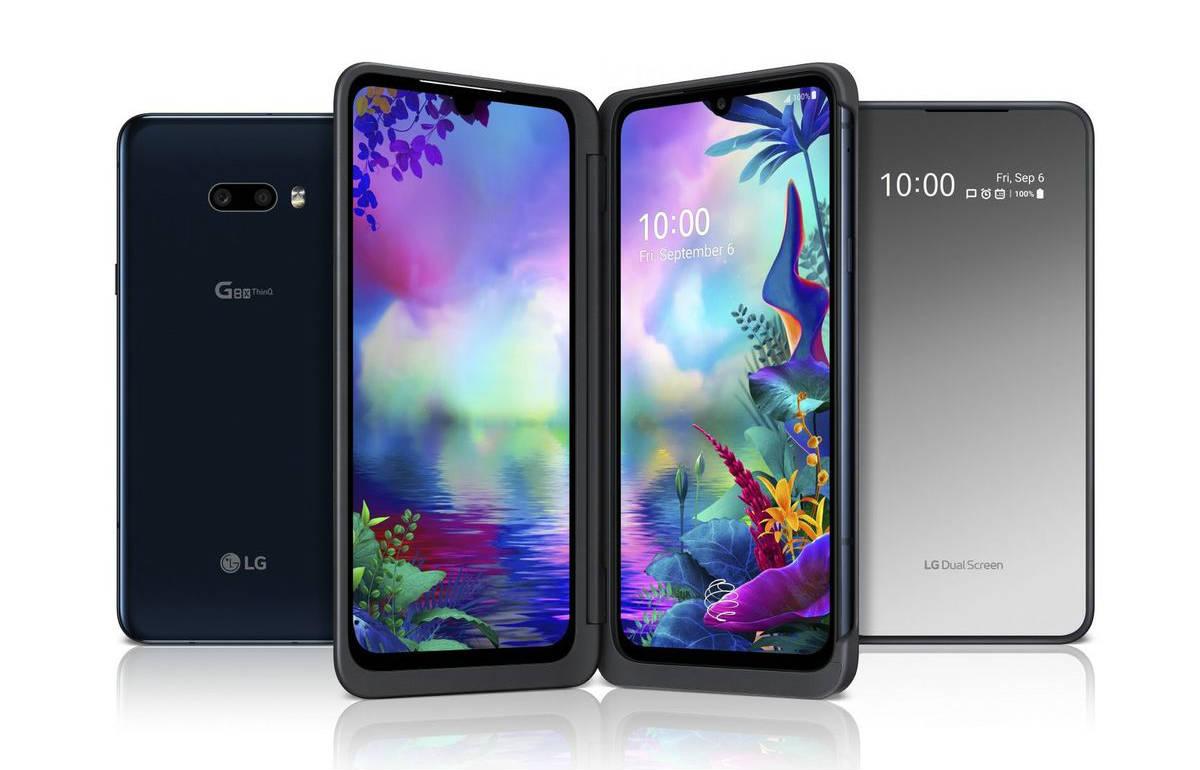 Neues LG G8x ThinQ, ein Handy mit Zubehör-Bildschirm 2 in 1 1