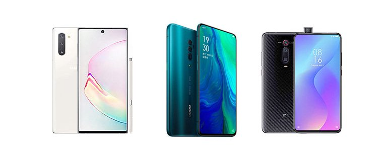 Samsung Galaxy Note  10 vs Oppo Reno 10x Zoom vs Xiaomi Mi 9T Pro: Feature-Vergleich 1
