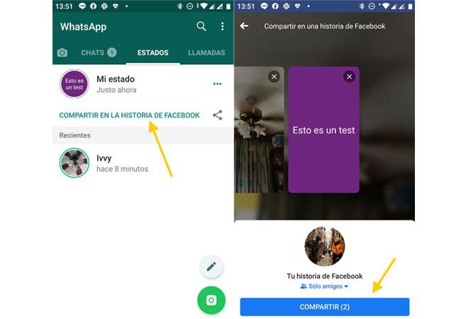 Schritte zum Teilen von WhatsApp-Statusangaben als Geschichten von Facebook!