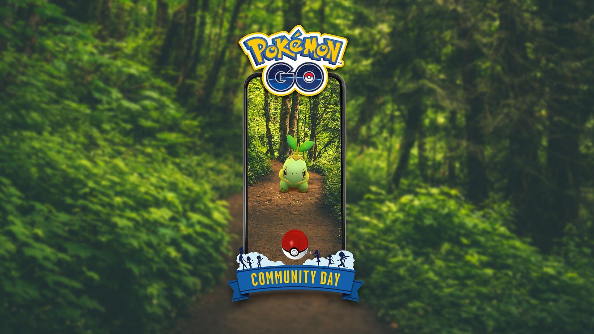 Amser cychwyn ar gyfer digwyddiad Diwrnod Cymunedol Pokémon Go a gwobrau ar gyfer mis Medi, gan gynnwys Turtwig a Torterra 1