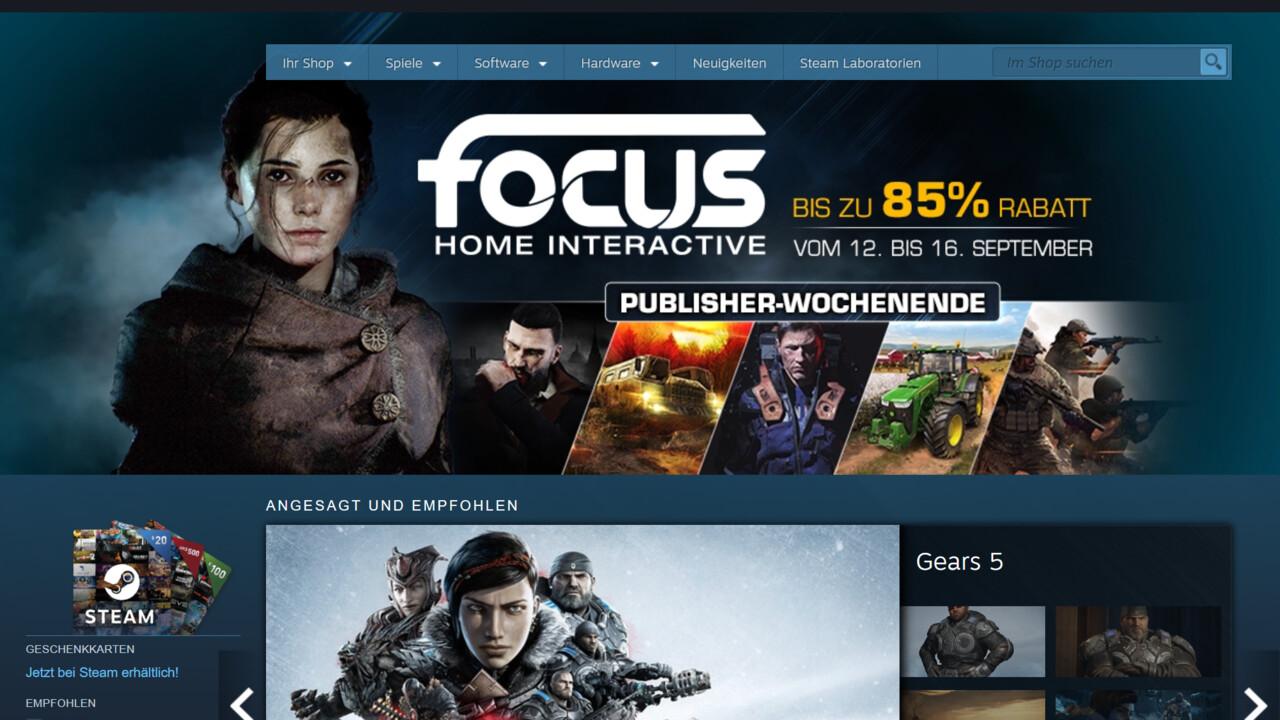 Steam: Die vorgeschlagenen Spiele sind nichts weiter als Superproduktionen