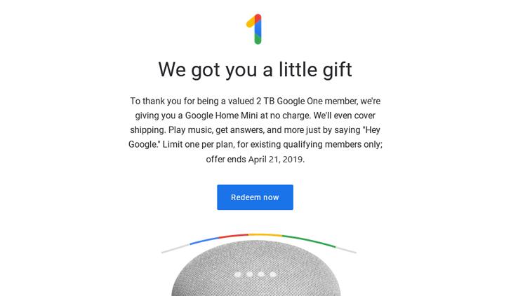 [Update: More countries] Google bietet kostenlose Home Mini to One-Abonnenten in den USA und Kanada an 1