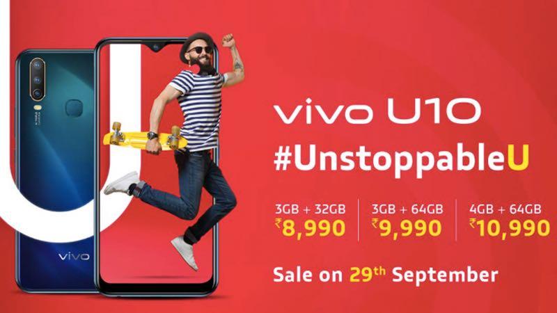 Vivo U10 mit Snapdragon 665 SoC und Triple Rear Camera Setup für 8.990 Rupien gestartet 1
