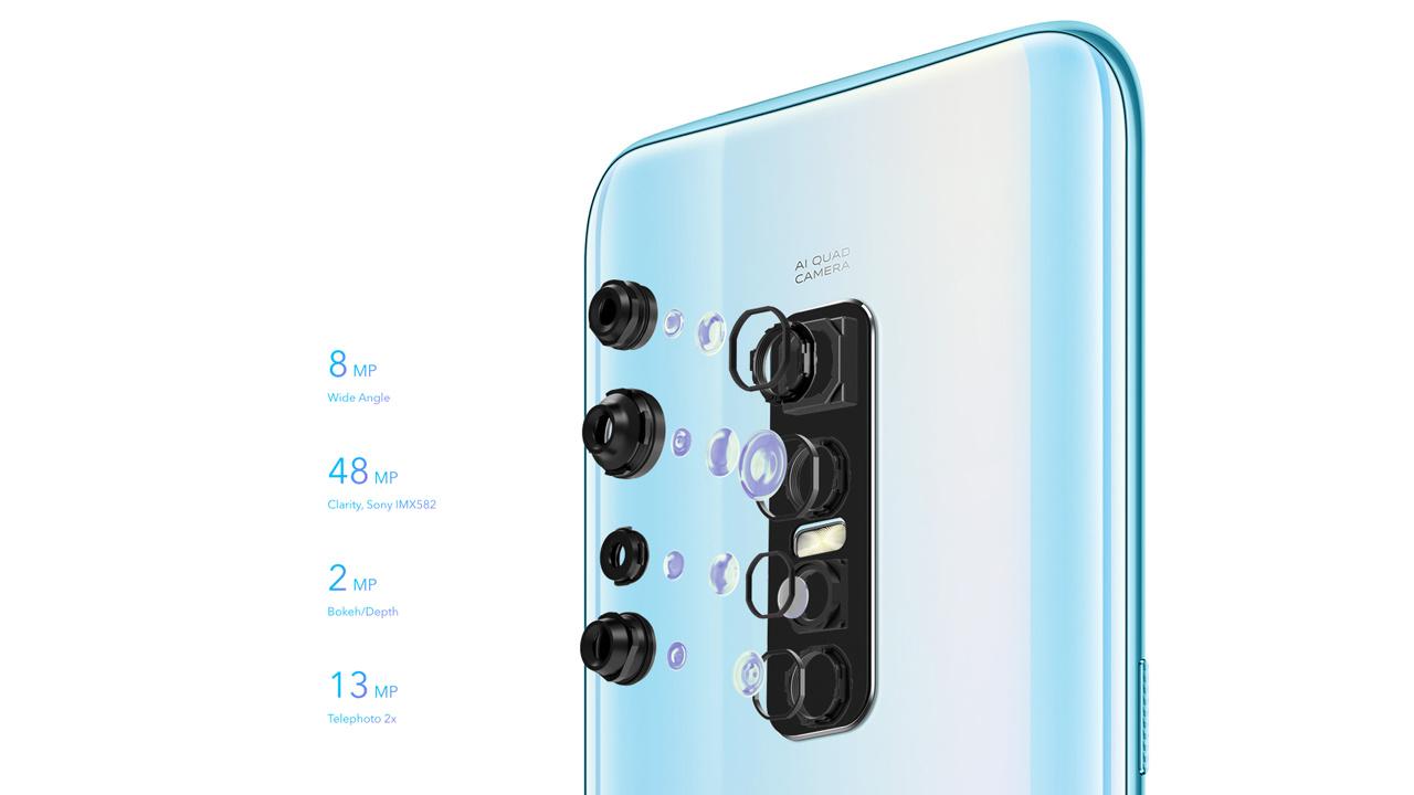 Quad Kamera mit 48 Megapixel Sony IMX582 Sensor