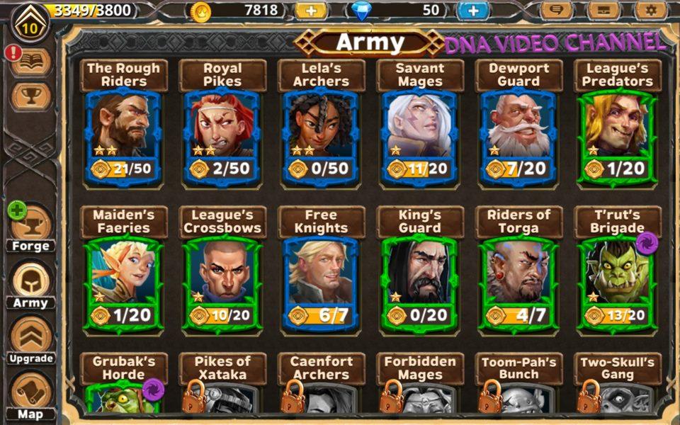 Warlords of Aternum-Einheiten