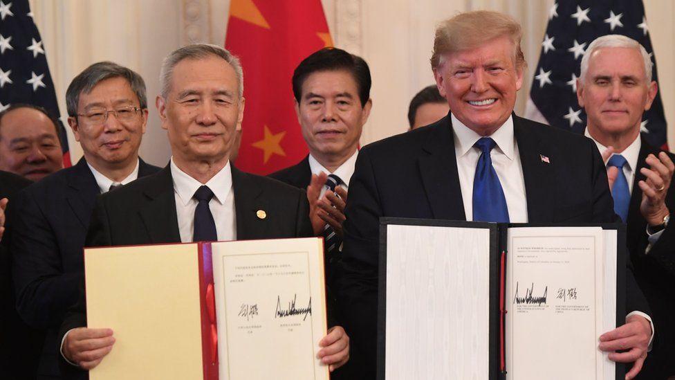USA und China unterzeichnen ein neues Handelsabkommen zur Vermeidung von Technologietarifen