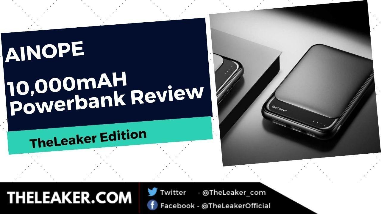AINOPE Portable 10.000mAH Power Bank Review: Taschenformat und dennoch leistungsstark