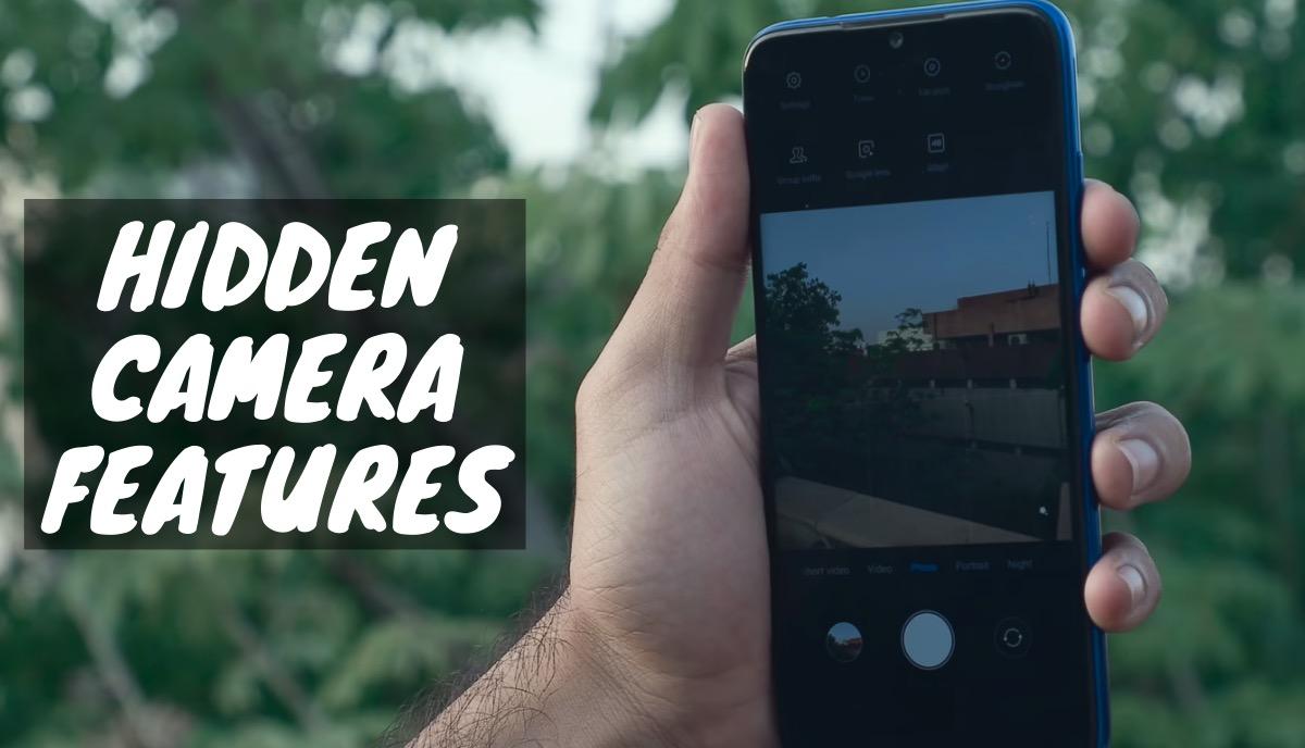 Xiaomi Hidden Camera Features