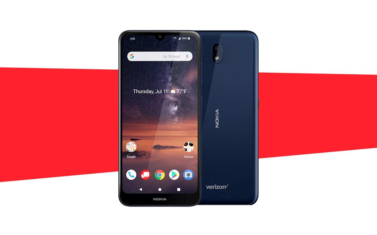 Das Nokia 3 V Verizon-Handy betont die Kamera nicht