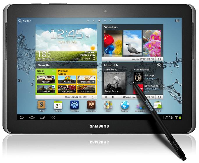 Die Wurzel Galaxy Note        101 N8000 DDALH1 Android 4.0.4 Offizielle Firmware ...